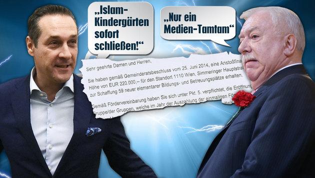 """Ganze Betrugsserie in islamischen Kindergärten (Bild: APA, """"Krone"""",  thinkstockphotos.de)"""