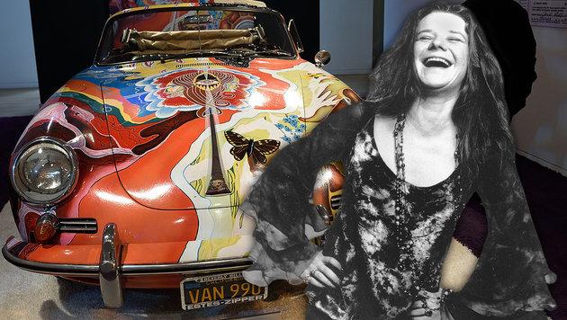 Janis Joplins Porsche für 1,8 Mio. $ versteigert (Bild: AP, APA/AFP/DON EMMERT)