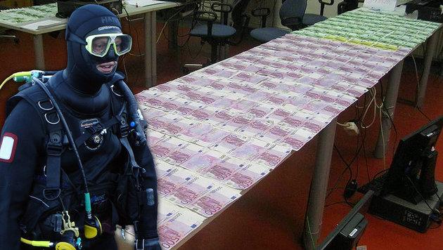 Rätsel um Donau-Geldschatz endlich geklärt (Bild: Polizei, APA/Privat (Symbolbild))