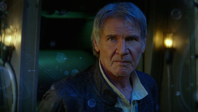 "Harrison Ford in seiner Rolle als Han Solo in ""Star Wars: The Force Awakens"" (Bild: Walt Disney Studios)"