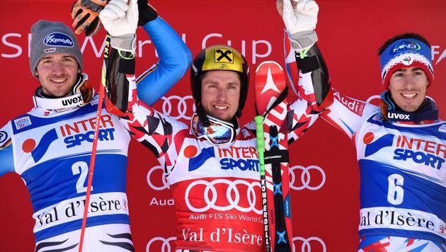 Marcel Hirscher triumphiert auch in Val d'Isere (Bild: AFP)