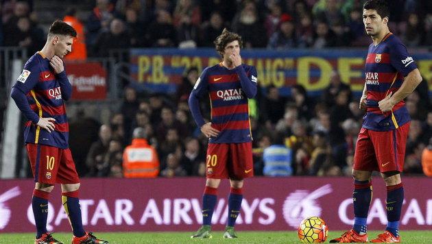 Traumfreistoß von Messi reicht nicht zum Sieg (Bild: APA/EPA/Quique Garcia)