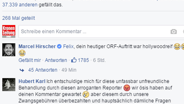 "Neureuthers ""ORF-Attacke"": Sogar Hirscher lächelt (Bild: Screenshot Facebook.com)"