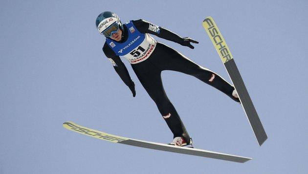 Hayböck Zweiter in Nischnij Tagil hinter Prevc (Bild: APA/AFP/NTB SCANPIX/POPPE, CORNELIUS)