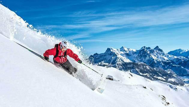 Das ist Kitzbühel, wie man es kennt: Pulverschnee und tolle Abfahrten (Bild: Michael Werlberger)