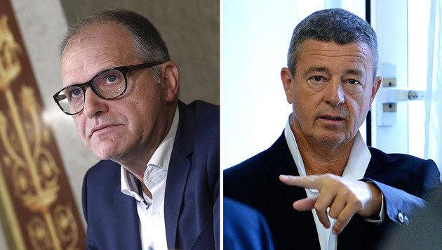 Auch in Korruptionsprozesse verwickelt: Ernst Strasser und Gernot Rumpold (Bild: APA/HELMUT FOHRINGER)
