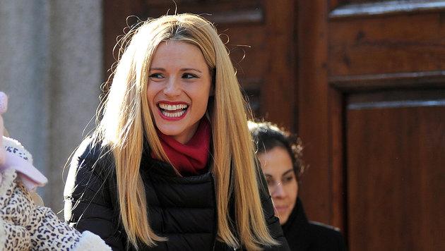 Michelle Hunziker strahlt (Bild: Viennareport)