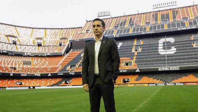 "FC-Valencia-Coach Neville: ""Ich glaube an mich"" (Bild: Alberto Saiz)"