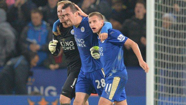 Leicester stürmt mit Fuchs wieder an die Spitze (Bild: APA/AFP/PAUL ELLIS)
