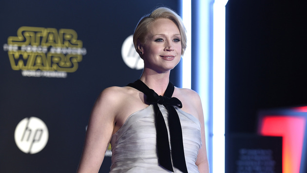 Gwenodlien Christie mimt in Episode 7 Sturmtruppen-Offizier Captain Phasma (Bild: Jordan Strauss/Invision/AP)