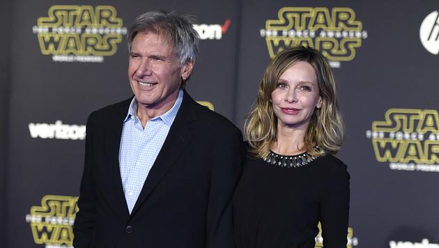 Harrison Ford mit Gattin Calista Flockhart (Bild: Jordan Strauss/Invision/AP)
