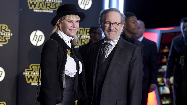 Regie-Meister Steven Spielberg an der Seite von Indiana-Jones-Beauty Kate Capshaw. (Bild: AP)