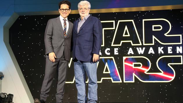 J.J. Abrams und George Lucas (Bild: Joel Ryan/Invision/AP)