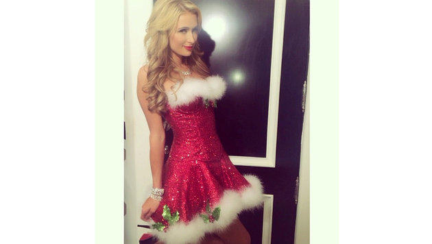 Paris Hilton: Ob sie heuer zu Weihnachten ihren Liebsten so sexy überrascht? (Bild: Viennareport)