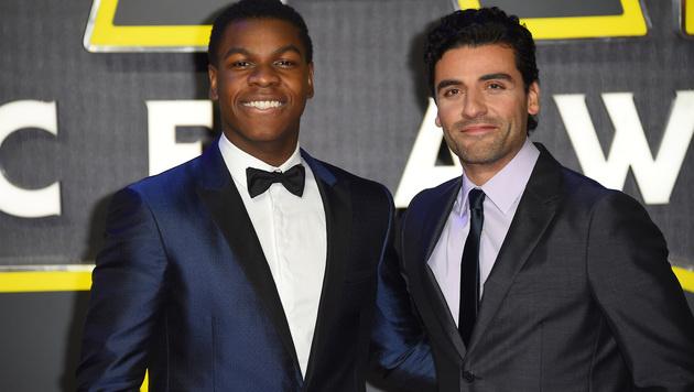 John Boyega und Oscar Isaac (Bild: Jonathan Short/Invision/AP)