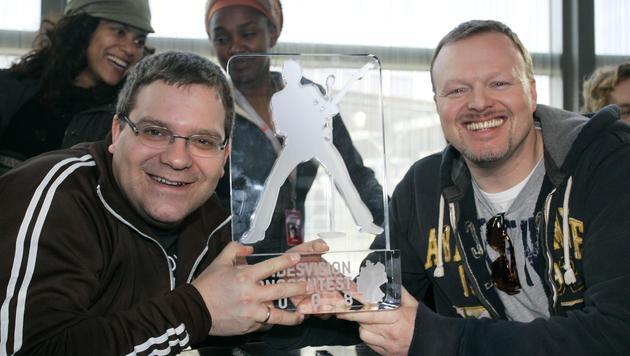 Stefan Raab und Elton (Bild: Viennareport)