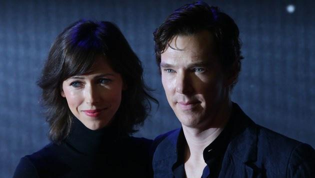 Benedict Cumberbatch und seine Frau Sophie Hunter (Bild: APA/AFP/JUSTIN TALLIS)