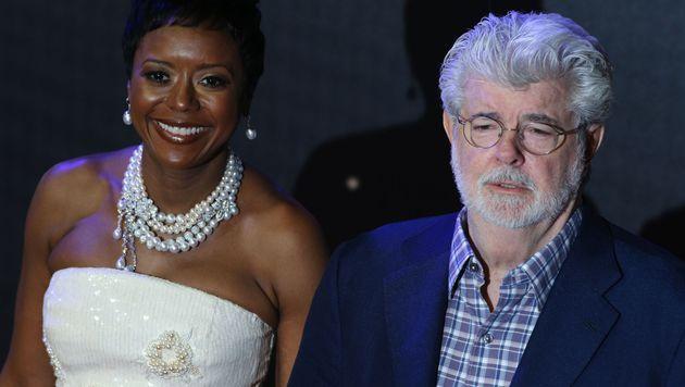 George Lucas und Mellody Hobson (Bild: APA/AFP/JUSTIN TALLIS)