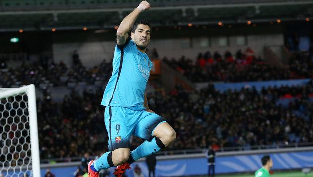Barcelona dank Suarez-Gala im Finale der Club-WM (Bild: AP)