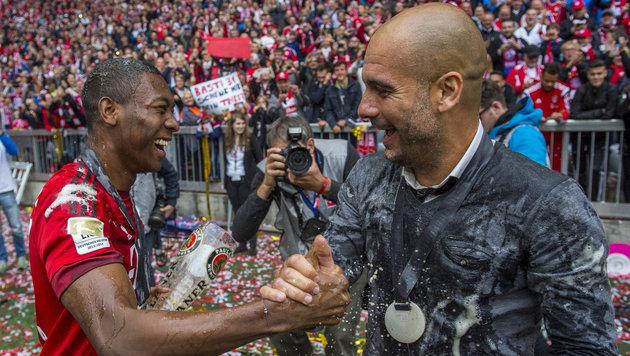 """Guardiola: """"Alaba bereichert mein Leben"""" (Bild: APA/dpa/Marc MŸller)"""