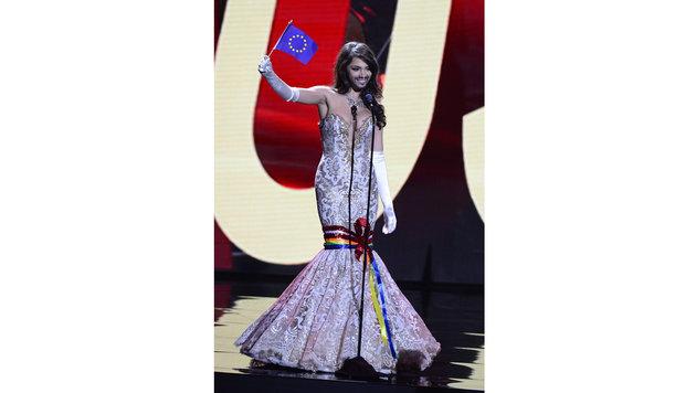"""Miss Austria"" Amina Dagi (Bild: APA/EPA/MIKE NELSON)"