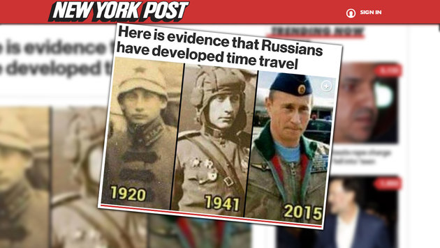 Die wildesten Theorien über Wladimir Putin (Bild: Screenshot New York Post)