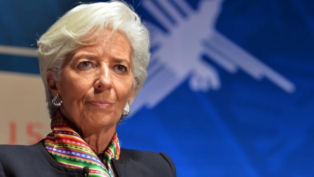 IWF-Chefin Christine Lagarde (Bild: AFP)