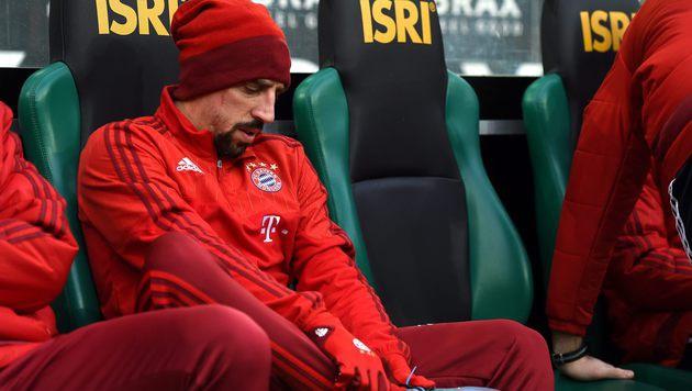 Ribery erneut verletzt - Pep streitet mit Ärzten (Bild: AFP)