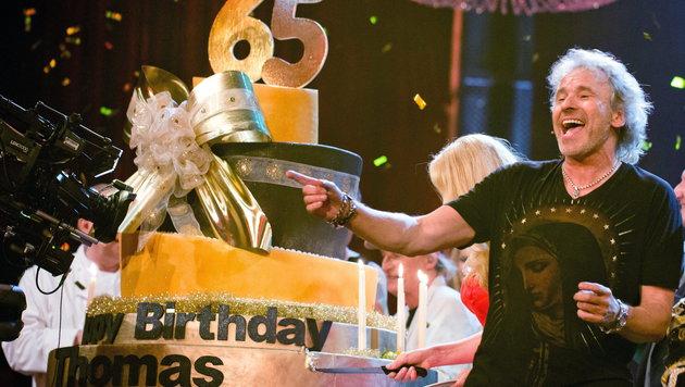 Thomas Gottschalk bei seiner Geburtstagsfeier (Bild: APA/EPA/JOERGCARSTENSEN)