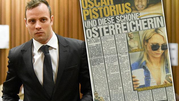 Was lief da zwischen Österreicherin und Pistorius? (Bild: APA/AFP/POOL/HERMAN VERWEY, Zeitung)