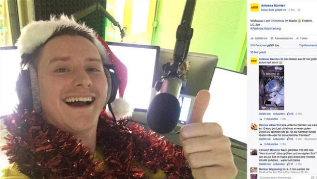 """Zweist�ndiges """"Last Christmas""""-Martyrium im Radio (Bild: Screenshot facebook.com/antennekaernten)"""