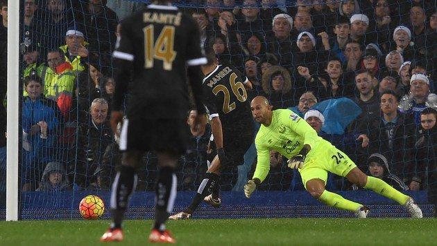 Leicester-Wahnsinn geht weiter, ManU blamiert sich (Bild: APA/AFP/PAUL ELLIS)
