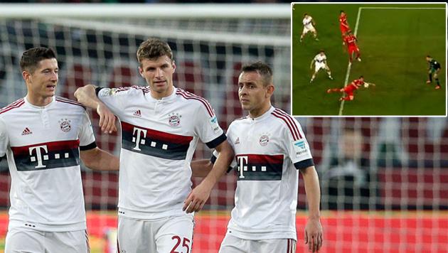 Video: Bayern profitieren von Handball-Einlage (Bild: AP)