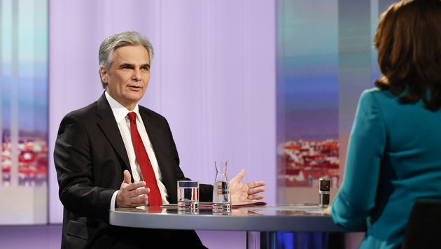 "Faymann in der ORF-""Pressestunde"" (Bild: APA/BKA/Andy Wenzel)"