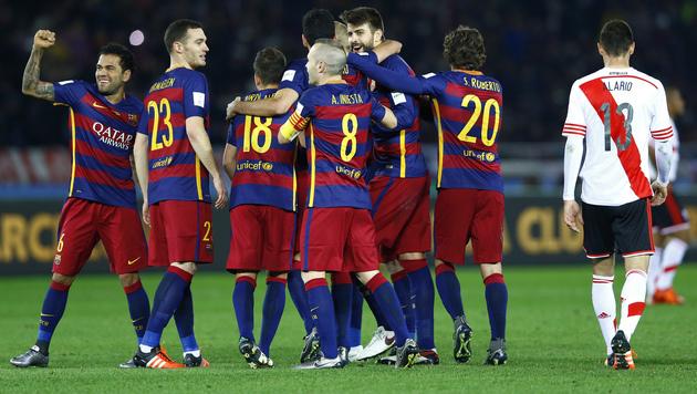 FC Barcelona zum dritten Mal Klub-Weltmeister (Bild: AP)