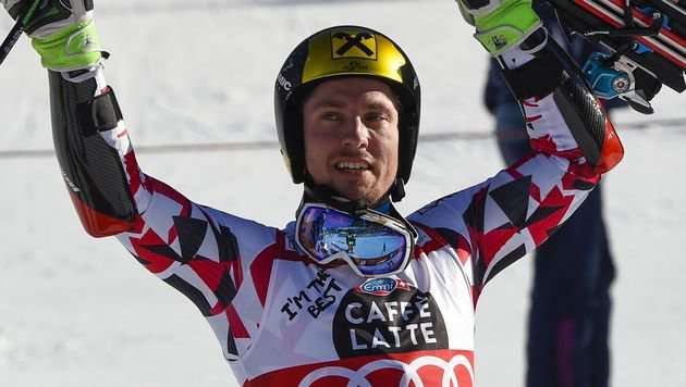 Hirscher holt in Alta Badia historisches Triple (Bild: APA/AFP/OLIVIER MORIN)