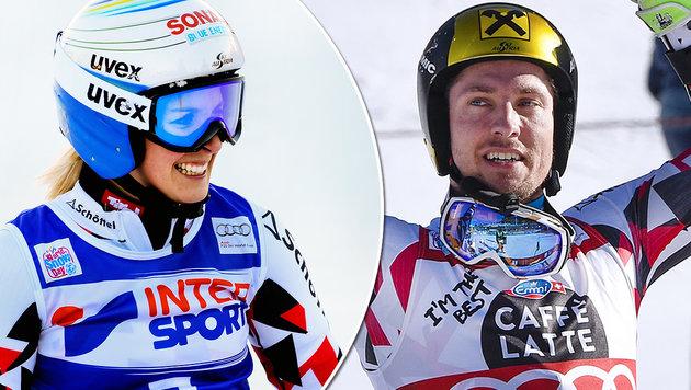 Ski-Feiertag! Nach Hirscher siegt auch Brem (Bild: AP, AFP)