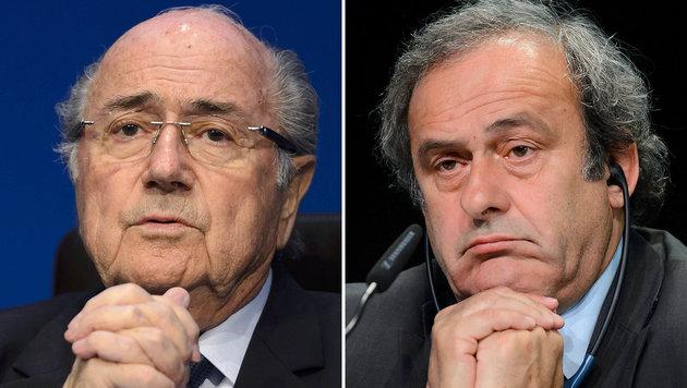 Sepp Blatter und Michel Platini (Bild: APA/AFP/STF)