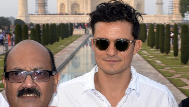 Orlando Bloom nach dem Visumdebakel in Indien (Bild: AP)