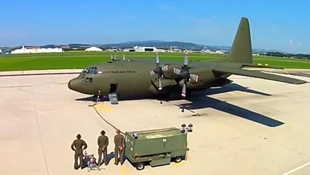 Eine Hercules-Maschine des österreichischen Bundesheeres (Bild: YouTube.com/NDBuer)
