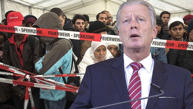 Mitterlehner: Flüchtlingsobergrenze bei 100.000 (Bild: AFP/ODD ANDERSEN, APA/HELMUT FOHRINGER)