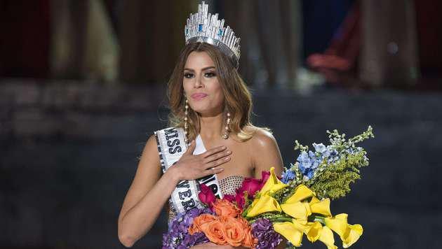 """Ariadna Gutierrez aus Kolumbien war nur kurz """"Miss Universe"""". (Bild: APA/AFP/Valerie Macon)"""