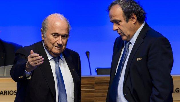 """Platini schimpft über Blatter: """"Der größte Egoist"""" (Bild: APA/AFP/FABRICE COFFRINI)"""