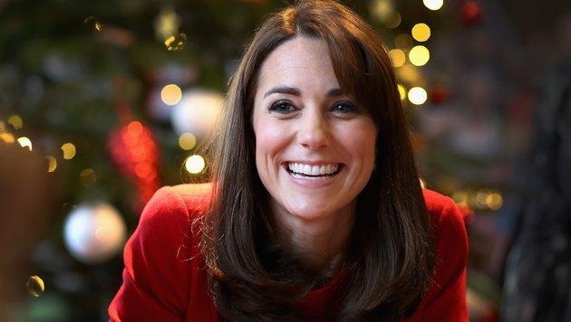 Herzogin Kate freut sich auf Weihnachten mit ihren Kindern George und Charlotte. (Bild: AFP)