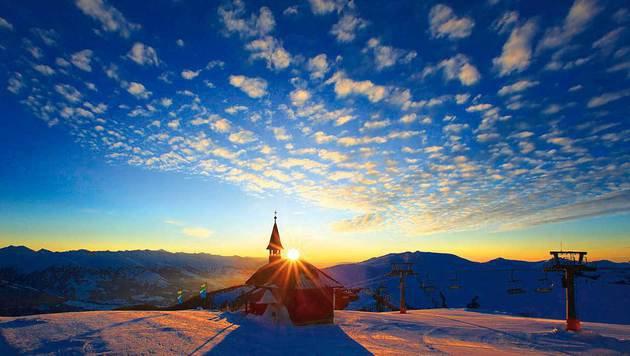 Fast schon kitschig präsentiert sich der Sonnenuntergang am Kitzsteinhorn. (Bild: Johann Felsch)