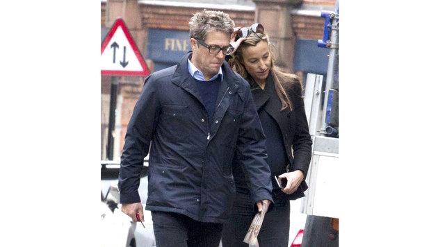 Hugh Grant und Anna Eberstein (Bild: Viennareport)