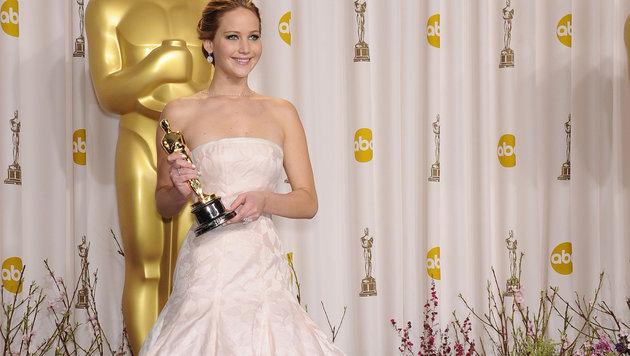 Jennifer Lawrence bei der Oscar-Verleihung 2013 (Bild: Viennareport)