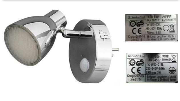 Produktrückruf von LED-Spot mit Bewegungsmelder (Bild: Lidl)