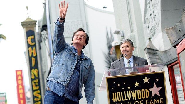Er sei total glücklich über diese Ehre, sagte Tarantino. (Bild: AFP/Angela Weiss)