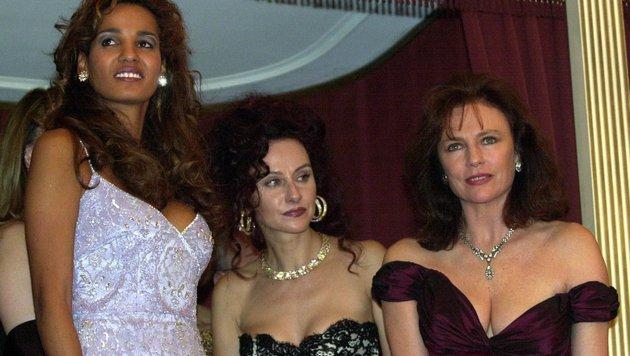 Nadja Abdel Farrag, Christine Lugner und Jacqueline Bisset 2000 (Bild: APA)